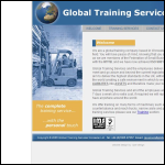 Screen shot of the Global Training Services Ltd website.