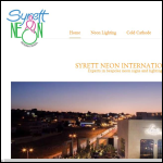 Screen shot of the Syrett Neon International website.
