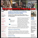 Screen shot of the Personal-safety-training.com website.
