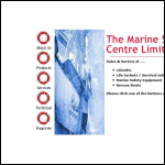 Screen shot of the Marine Safety Centre Ltd website.