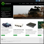 Screen shot of the Greeve Ltd website.
