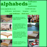 Screen shot of the Alpha Beds (Dolbantau) Ltd website.