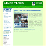 Screen shot of the Lancs Tanks website.