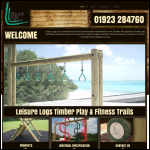 Screen shot of the Leisure Logs Ltd website.