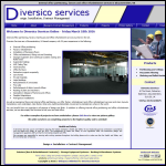 Screen shot of the Diversico Services website.