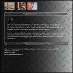 Screen shot of the Smith Metal Fabrications Ltd website.