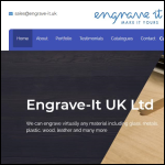 Screen shot of the Engrave-it Ltd website.
