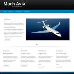 Screen shot of the Mach Avia website.