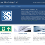 Screen shot of the Solutions Fire Safety Ltd website.