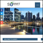 Screen shot of the Summit It Ltd website.