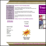 Screen shot of the Trucut Technology Ltd website.