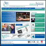 Screen shot of the Platts & Nisbett Ltd website.