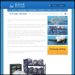 Screen shot of the Kayel Brewery Supplies Ltd website.