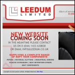 Screen shot of the Leedum Ltd website.