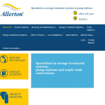 Screen shot of the Allerton Construction Ltd website.