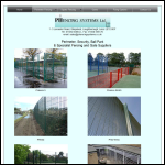 Screen shot of the Phencing Systems Ltd website.