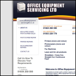 Screen shot of the Office Equipment Servicing Ltd website.