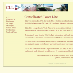Screen shot of the Consolidated Lazer Line Ltd website.