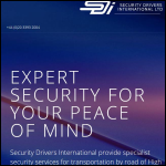 Screen shot of the Security Drivers International Ltd website.