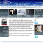 Screen shot of the The Master Cleaners website.