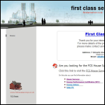 Screen shot of the First Class Service Ltd website.