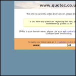 Screen shot of the Quo-tec Ltd website.