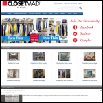 Screen shot of the Closetmaid Uk website.