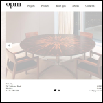 Screen shot of the Opm Furniture Ltd website.