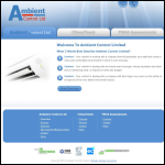 Screen shot of the Ambient Control Ltd website.