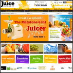 Screen shot of the Juiceproducer website.