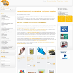 Screen shot of the Solar Hygiene Supplies website.