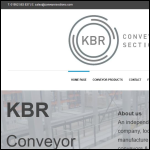 Screen shot of the KBR Machinery Conveyor Sections website.