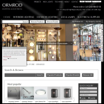Screen shot of the Ormrod Lighting & Electrical website.