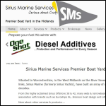 Screen shot of the Sirius Marine Services Ltd website.