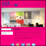 Screen shot of the A & B Window Blinds Ltd website.