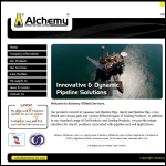 Screen shot of the Alchemy Oilfield Services Ltd website.