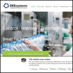 Screen shot of the OEESystems website.
