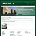 Screen shot of the United Box Ltd website.
