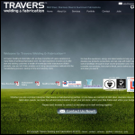 Screen shot of the Travers Welding & Fabrication Ltd website.