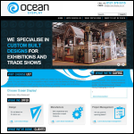Screen shot of the Ocean Display Ltd website.