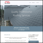 Screen shot of the Best Roofers (Leeds) Roofing Contractors website.