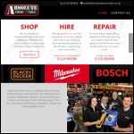 Screen shot of the Absolute Power Tools Ltd website.