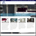 Screen shot of the Discount Kitchens and Bathrooms Ltd website.