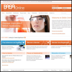 Screen shot of the British Adhesives and Sealants Association website.