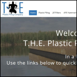 Screen shot of the T.H.E. Plastic Piling Company website.