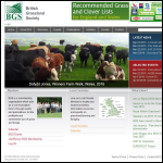Screen shot of the British Grassland Society website.