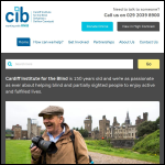 Screen shot of the Cardiff Institute for the Blind website.