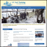 Screen shot of the Association of Sail Training Organisations website.