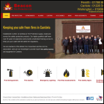 Screen shot of the Beacon Fire Protection website.