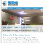 Screen shot of the Griffen Engineering Ltd website.
